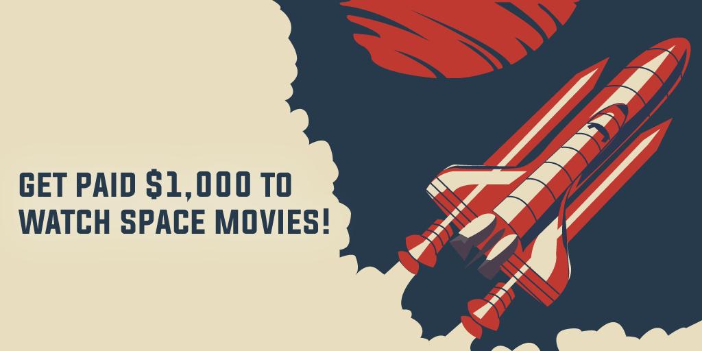 Title image for space movie marathon job posting