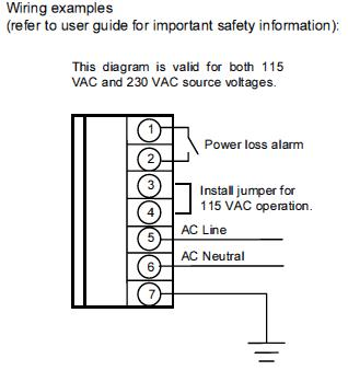 140CPS11420 - Modicon Quantum Power Supplies Wiring Image