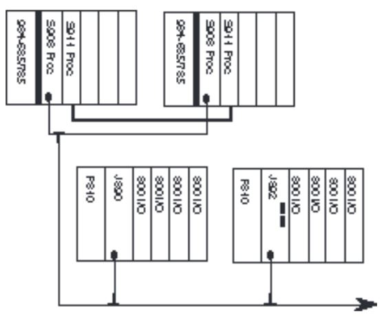 AS-B355-001 - Modicon 984 Series 984 Wiring Image