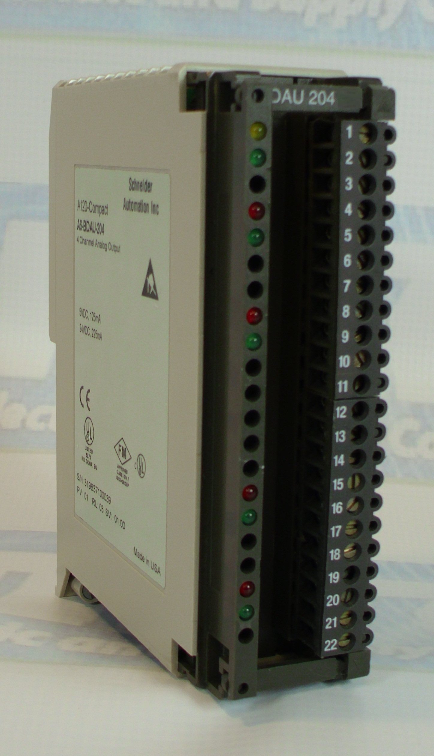 Schneider Automation AS-BDAU-204 | Analog |  Output, Isol. | AS-BDAU-204 | Image